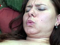 Salacious brunette wench with big breasts lied on sofa with her legs spread apart end went crazy about that hard fisting her kooky presented to her. Have a look at that amazing lesbian copulation in Porn XN sex clip!