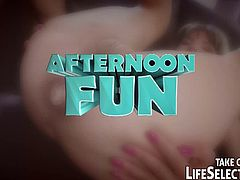 Life Selector brings you a hell of a free porn video where you can see how the hot brunette teen Doris Ivy gets her ass dildoed and fucked into heaven while assuming very naughty poses.