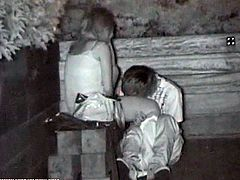This naughty Asian couple is alone in the park at night. They take advantage of the quiet and privacy and have sex on a bench. A spy cam filmed the whole thing.