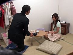 Have a blast watching this Japanese doll, with natural boobs wearing a skirt, while she touches herself and somebody puts a hidden camera.