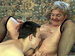 A Chubby Granny Gets Her Vintage Pussy Fucked