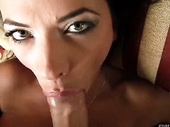 David Perry fucks Shalina Devine in her mouth as hard as possible in steamy oral action