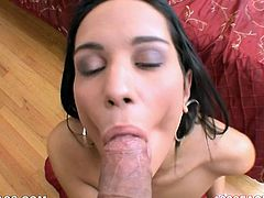 Long and black haired whorish lassie with small titties got her dirty mouth deep throat satisfied by that massive throbbing sausage. Her face got cum painted afterwards. Take a look at this hot BJ in My XXX Pass porn clip!