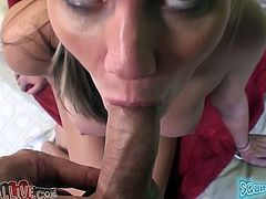 Jordan Denae radiates confidence in her own power of seduction. She spreads her legs wide and lets her lover get a taste of her delicious twat. Horny dude licks her cherry greedily like a true pussy eater. Then she returns the favor abd goes down on him. Damn, her cock sucking skills are above all praise.