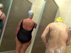 The secret views that horny voyeur enjoys in the girls shower is causing him a lot of dirty pleasures