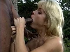 Nice blowjob from white skinny chick who loves black cocks
