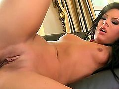 Watch cool sex with brunette cutie Madison Parker. The chick with cool forms of body is giving nice fellatio first of all. She rides up dick and starts bounding on it.