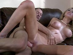 Have fun with this hardcore scene where the busty blonde Brynn Tyler is nailed by a thick cock as you hear her moan.