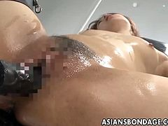 Asians Bondage brings you a hell of a free porn video where you can see how a tied up Japanese brunette gets fucked by a nasty machine til she cums VERY hard.