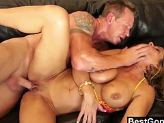 Best Gonzo brings you a hell of a free porn video where you can see how the busty blonde milf Kristal Summers gets pounded very hard into a breathtakingly intense orgasm.