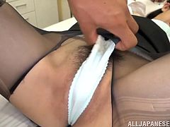 Japanese teacher Mira Tamana gets her cunt toyed and pounded deep