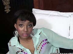 Hot ass ebony teen from the hood named Mimi West is ready for her first porn audition. She was a bit shy, but after deepthroating his white rod she enjoyed it so much.