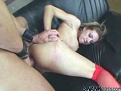 Make sure you have a look at this hardcore scene where Roxanne Hall has her asshole stretched out by a dildo before being fucked by this guy's thick cock.