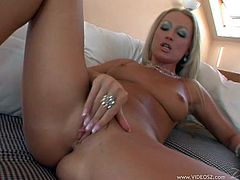 Click on this hardcore video and watch Diana Doll playing with her pink pussy before this sexy blonde is fucked silly by this guy.