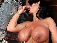 Kerry Louise with giant tits wants sex really badly