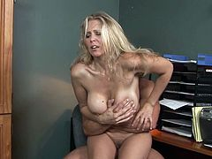 Never did busty milf, Julia Ann, thought that fucking her younger boss will be so amazingly hot