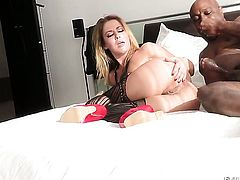 Jon Jon explores the depth of sultry Sheena Shaws throat with his rod after anal sex