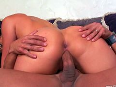 Check out this hardcore scene where the big booty Luscious Lopez is fucked silly by this guy after you watch her sucking on his big cock.