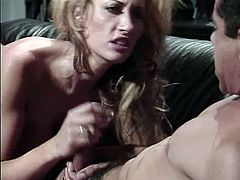 Hot babe goes crazy as her pussy is licked