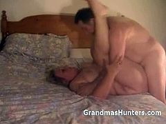 Grandmas Hunters brings you a hell of a free porn video where you can see how a chubby blonde mature gets banged deep and hard into heaven while assuming very hot poses.