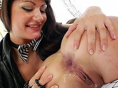 It's amazing for sleazy girls to have their wet butt holes nailed like never before in rough foursome show