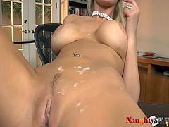 Attractive and pretty light haired chick with nice body gets her wet cunt fucked hard riding a cock in cowgirl pose and gets a sperm on her body. Have a look at this bitch in Twistys Hard xxx clip.