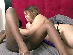 Horny and sexy black bitch with big ass and sexy boobs gets her cunt masturbated by the busty babe. have a look at these bitches in All Porn Sites Pass xxx clip.