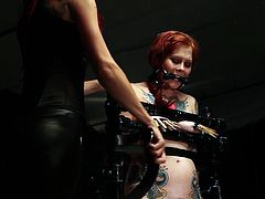 Kinky gals are now into rough things with their creamy vags during top BDSM lesbian cam encounter