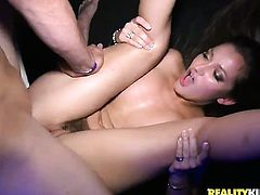Levi Cash fucks irresistibly hot Chloe Brookes beautiful face with his dick