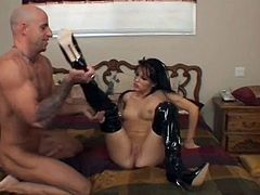 Jenna Presley in stilettos-goes down deep