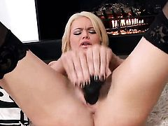 Alexis Ford kills time stroking her love tunnel