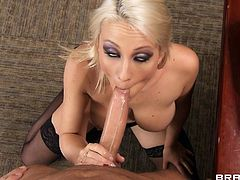 Take a look at this hardcore scene where Lexi Swallow sucks on her boss' big cock before being fucked by him in the middle of the office.