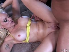 Extremely hot and sexy light haired bitch with awesome body gets her dripping pussy fucked hard missionary. Have a look at this chick in My XXX Pass sex video.