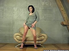 This is a hell of a solo scene with a desirable brunette chick Anetta Keys! She gets naked and starts showing how sweet her body is!