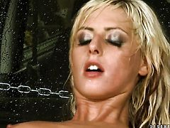 Blonde White Angel has great dick sucking experience and expands it with hard cocked fuck buddy
