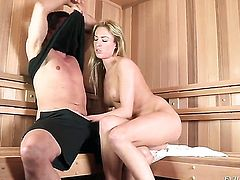Victoria White loves to blow and cant say No to her hot bang buddy Toni Ribas after anal fun
