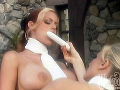 Take a look at this hot lesbian scene where these horny ladies make your day with a hot lesbian scene on camera.