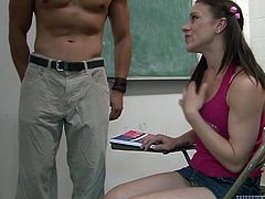 Young attractive curvy brunette gives a wonderful blowjob to the Asian man. Have a look at this whore in Fame Digital sex clip.