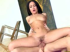 Hot Bush brings you a hell of a free porn video where you can see how the tattooed brunette Gabriella Paltrova gets banged hard and deep into a breathtaking orgasm.
