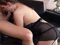 Kinky and extremely sexy blond haired chick with nice ass and in stockings gives a great blowjob and gets her asshole licked. Have a look at this bitch in Fame Digital sex video.