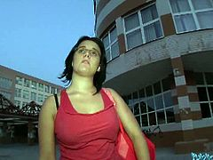 Public Agent brings you a hell of a free porn video where you can see how this alluring amateur brunette slut sucks and fucks outdoors while assuming very hot poses.