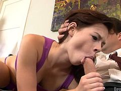Voracious brunette bitch sucks that big smelly cock ardently.Meanwhile her mind blowing kinky kooky fucks wet pussy of her kooky with big dildo. Look at this dirty FFM fuck in Fame Digital porn video!
