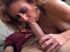 Kinky light haired MILF with nice ass gets her dripping pussy fucked hard riding the cock in cowgirl pose and sucks the dick. Have a look at this whore in Fame Digital sex video.