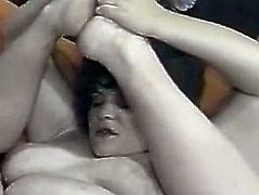 Slutty girl with big ass gives a blowjob to black man meanwhile attractive dark haired chick gets her cunt fucked hard doggystyle. Have a look at these bitches in The Classic Porn sex video.