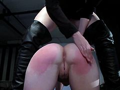 Girls in leather costumes enjoying nasty femdom pleasures in one harsh masturbation porn scene