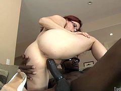 sexy and attractive red haired babe with nice ass gives a blowjob and gets her dripping pussy fucked hard. Have a look at this whore in Fame Digital sex clip.