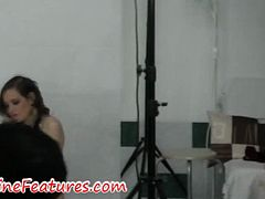 Watch this university student stripping and teasing in the backstage. You thought university students are boring, well check this teen out. Nice sexy body and an attitude to get fucked, these babes are horny and crzay. Enjoy!