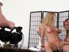 Silvia Saint spends time having lesbian sex with Ashley Bulgari