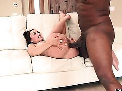 Rico Strong wants to fuck extremely horny Liza del Sierras booty forever before she gives mouth job