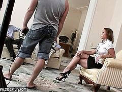 Blonde Kathia Nobili loses control in anal action